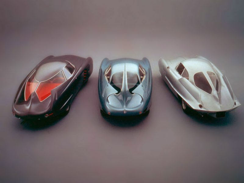 The Three Original BAT cars. From left: BAT 5, BAT 7, BAT 9