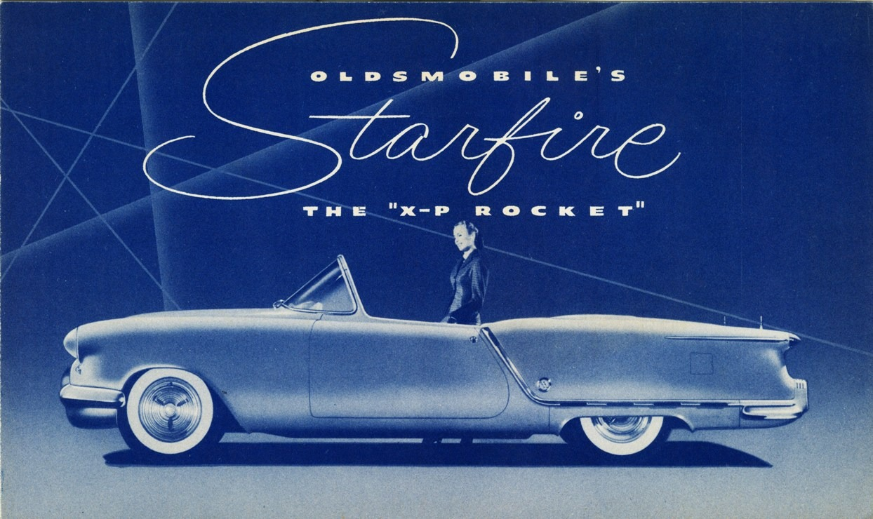 Oldsmobile Starfire Convertible 1953 Old Concept Cars