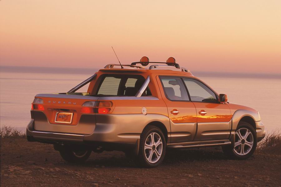 Subaru S St X Concept Resembled A Car With Pickup Truck Cargo Bed And Was Thinly Disguised Version Of The Upcoming Baja 4 Door Sport Utility