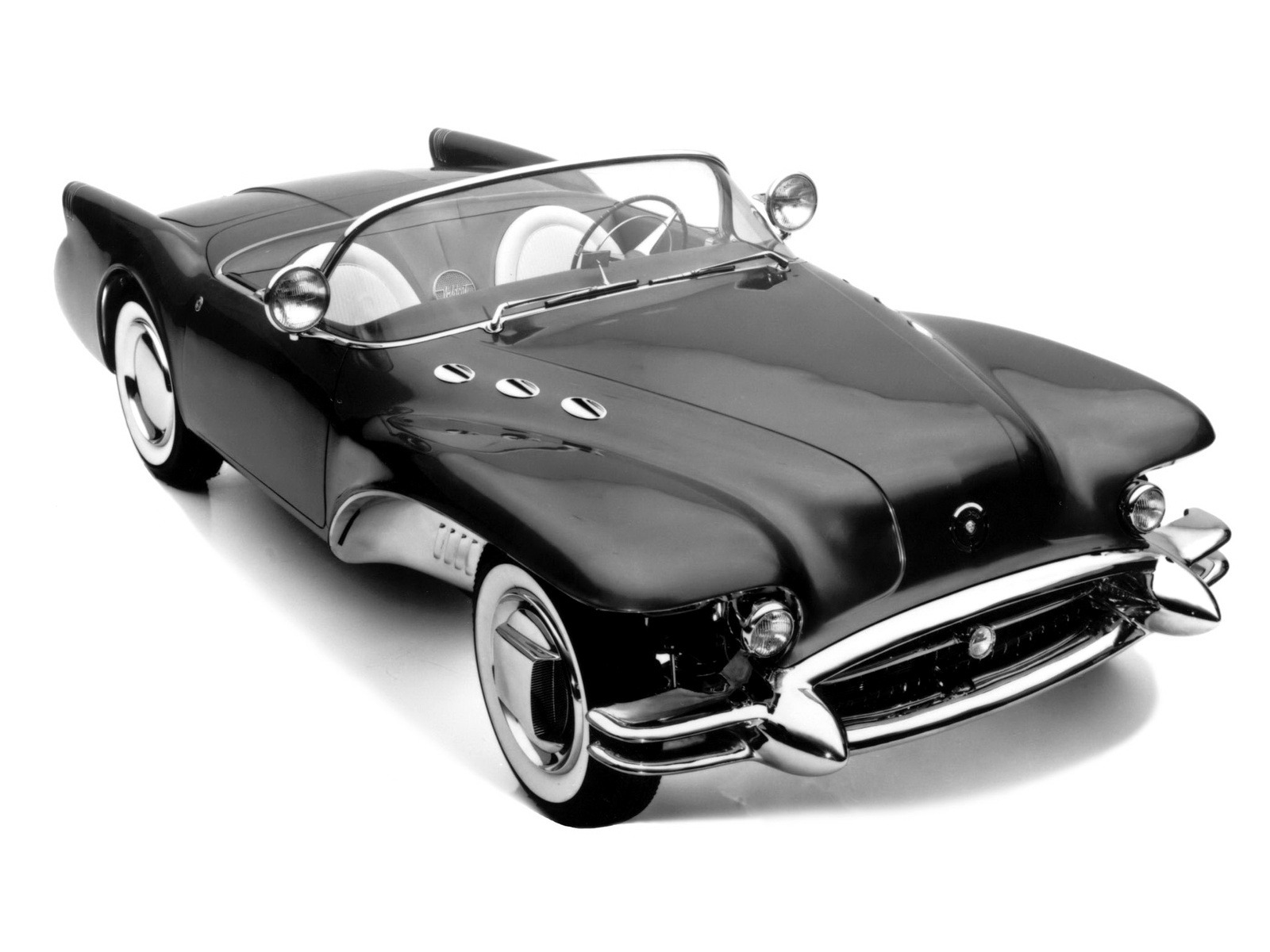 Buick Wildcat Ii 1954 Old Concept Cars Riviera Convertible The Car Had A Front Fender That Flared Straight Out From Body Exposing Entire Wheel Well And Part Of