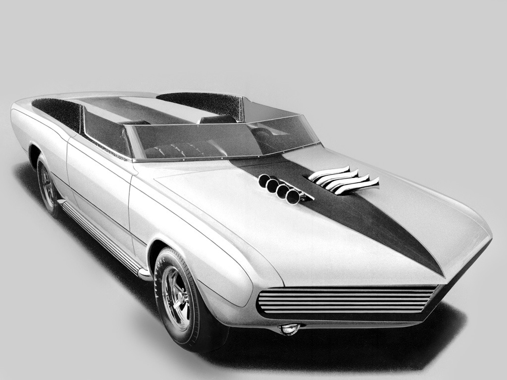 Dodge Dart Gt Convertible Daroo I Concept Car 1967 Old Concept Cars
