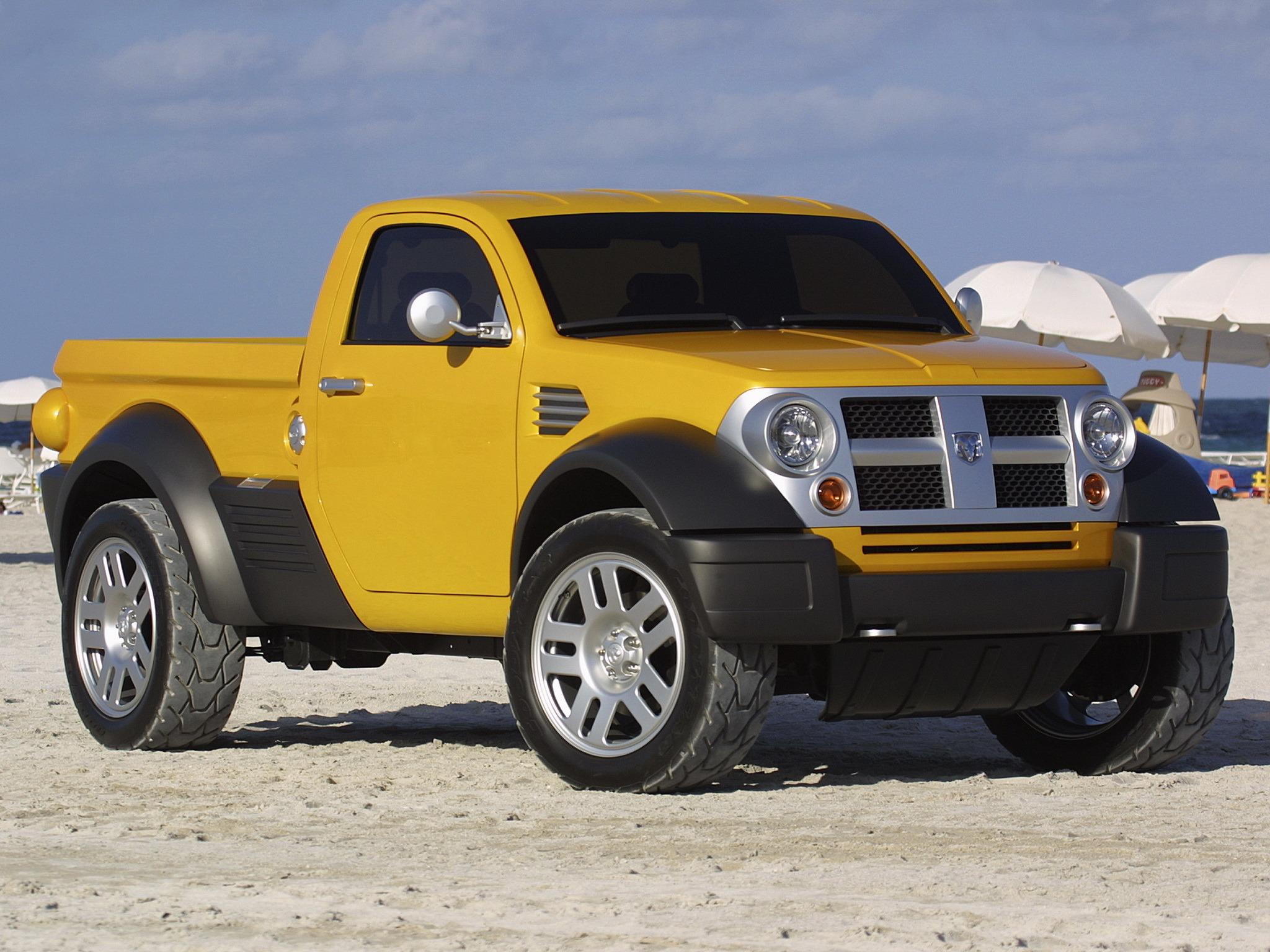dodge concept m80 2002 pickup trucks jeep chrysler compact ford truck retro concepts dakota ram future engine v6 looks weird