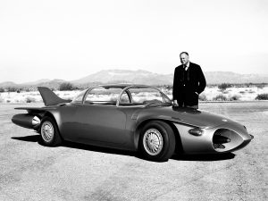 Harley Earl with1956 Firebird II
