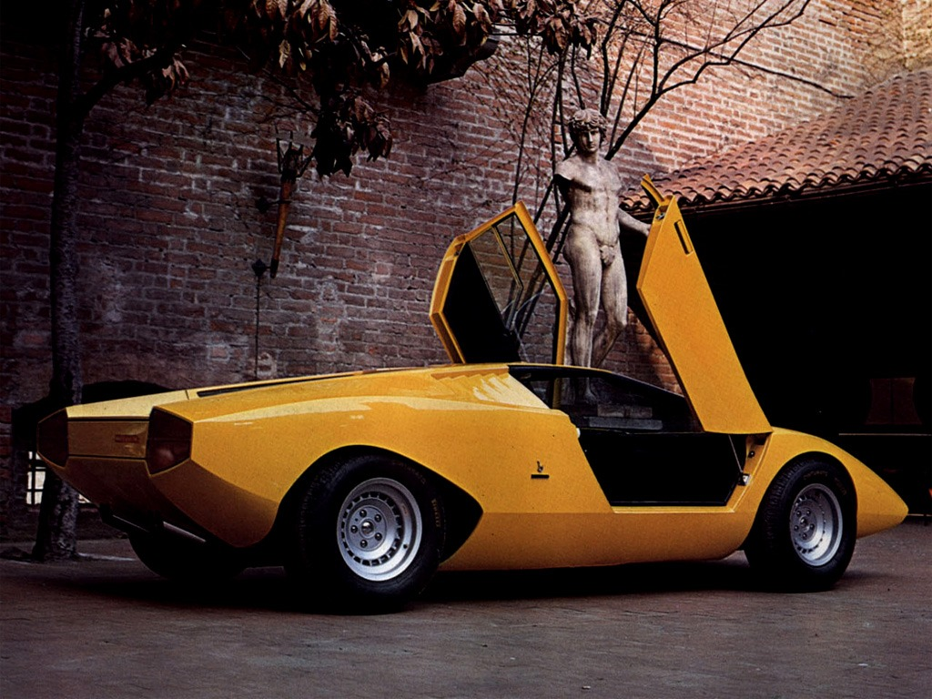 lamborghini countach lp500 prototype 1971 old concept cars. Black Bedroom Furniture Sets. Home Design Ideas