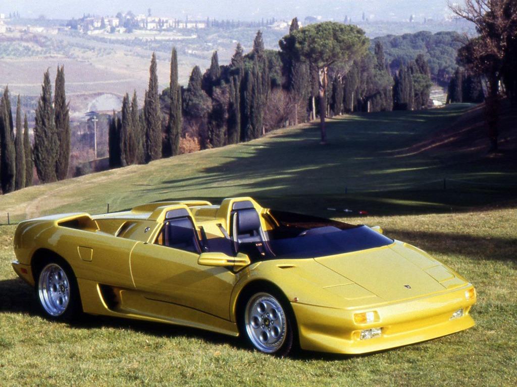 Lamborghini diablo roadster prototype 1992 old concept cars