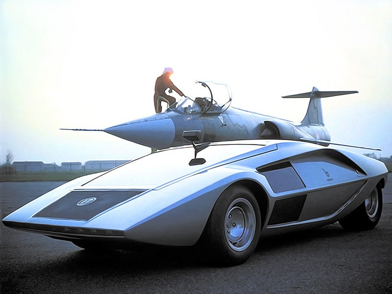 lancia stratos zero 1970 old concept cars. Black Bedroom Furniture Sets. Home Design Ideas