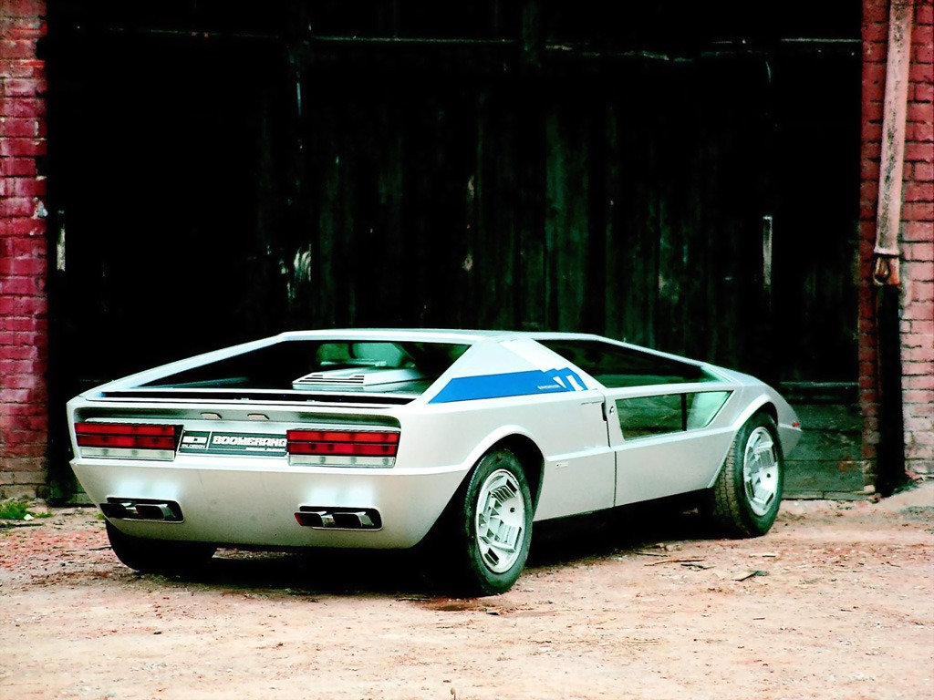 maserati boomerang 1972 old concept cars. Black Bedroom Furniture Sets. Home Design Ideas