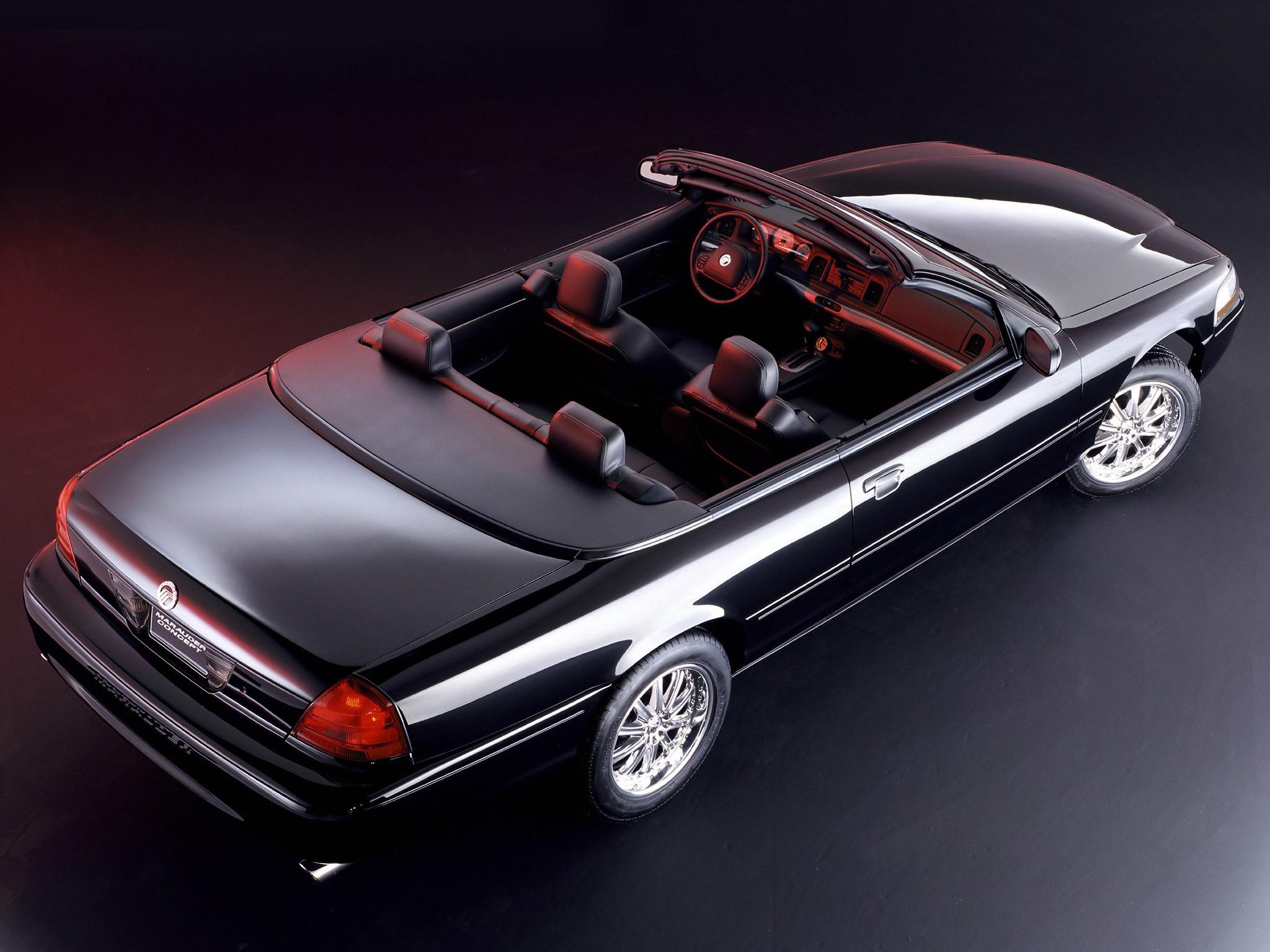 mercury marauder convertible concept 2002 cars 2004