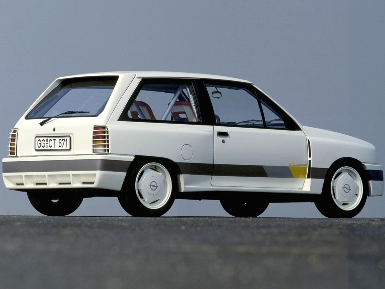 opel corsa sprint gr b prototype 1983 old concept cars. Black Bedroom Furniture Sets. Home Design Ideas