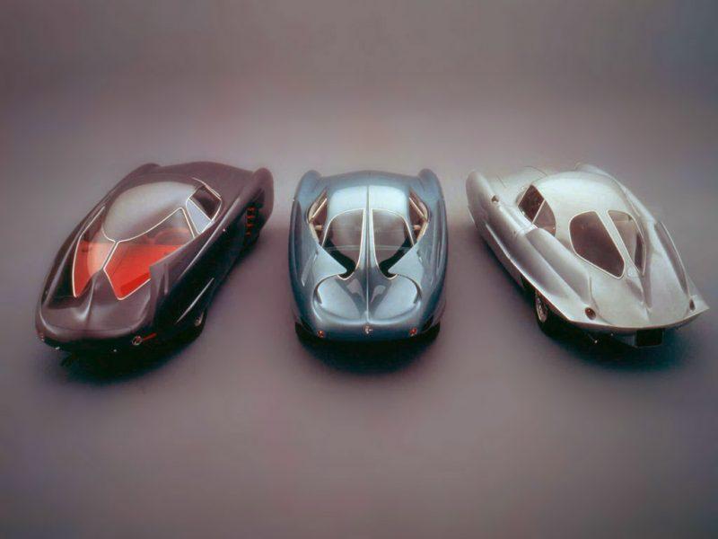 The Three Original BAT cars. From left: BAT 5, BAT 7, BAT 9